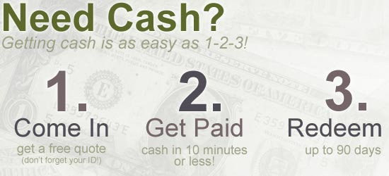 Cash is as easy as 1-2-3!